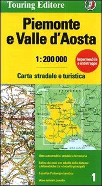 mappa Piemonte e Valle d'Aosto