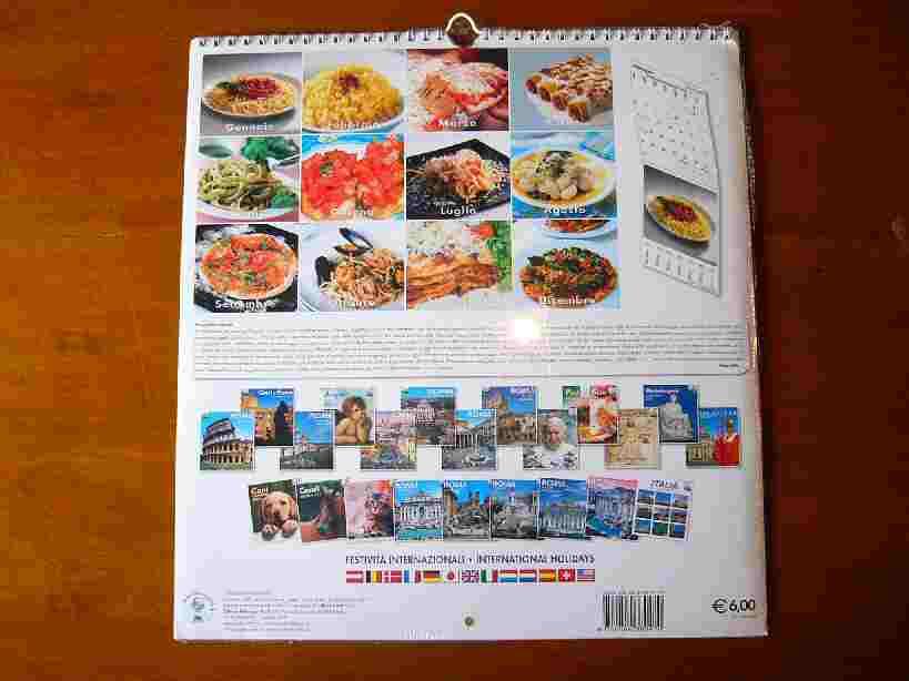 pasta&pizza カレンダー